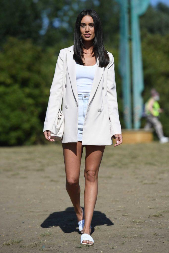Clelia Theodorou in a White Blazer