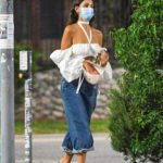 Eiza Gonzalez in a White Blouse Was Seen Out in Los Angeles