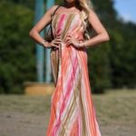 Ella Rae Wise in a Full Colour Sundress Was Seen Out in Essex
