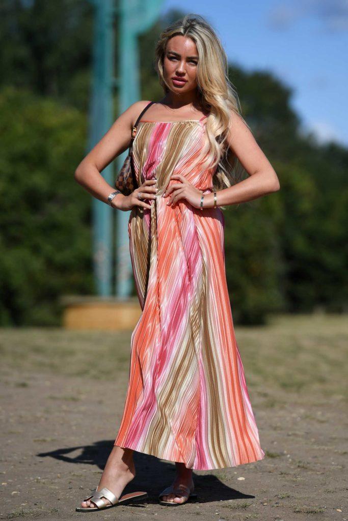 Ella Rae Wise in a Full Colour Sundress