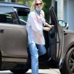 Elsa Hosk in a Full Colour Shirt Was Seen Out in Los Angeles
