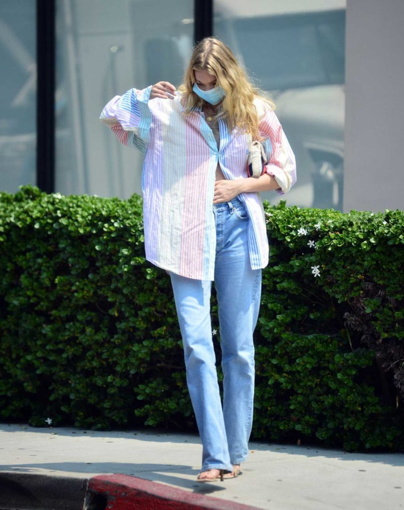 Elsa Hosk in a Full Colour Shirt