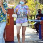 Elsa Hosk in a Protective Mask Steps Out for Breakfast with Tom Daly in Los Angeles