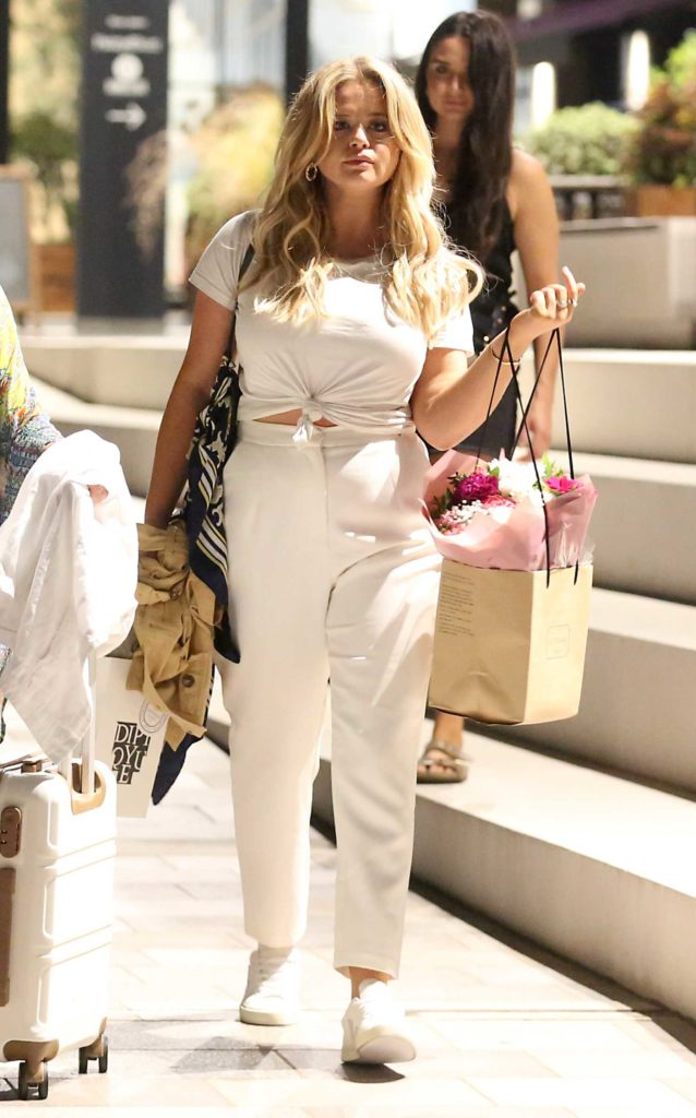 Emily Atack in a White Outfit