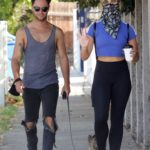 Emma Slater in a Black Leggings Was Seen Out with Sasha Farber in Los Angeles