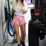 Emma Slater in a White Tee Was Spotted at a Gas Station in Los Angeles