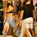 Francesca Farago in a Black Bra Was Seen Out with Damian Powers During a Night Out in Hollywood