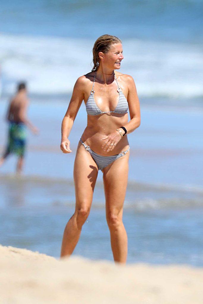 Gwyneth Paltrow in a Striped Bikini