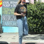Ireland Baldwin in a Black Tee Goes for Lunch at Joan's on Third in West Hollywood