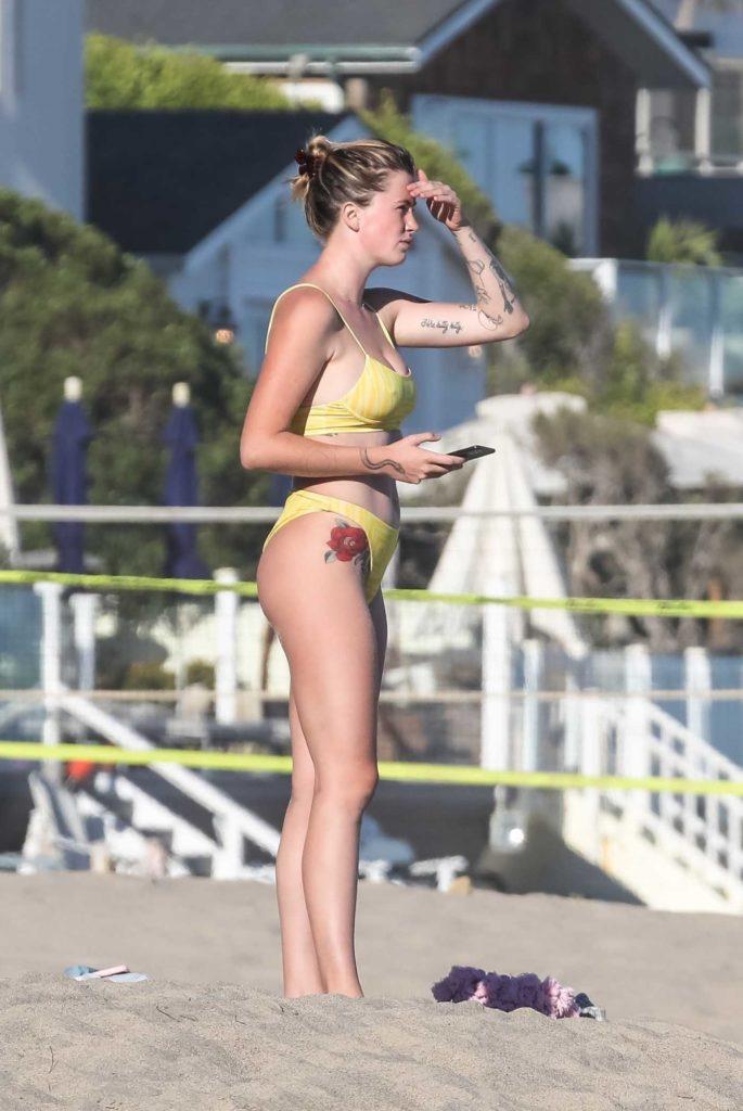 Ireland Baldwin in a Yellow Bikini