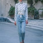 Jaime King in a Blue Floral Blouse Was Seen Out in Los Angeles