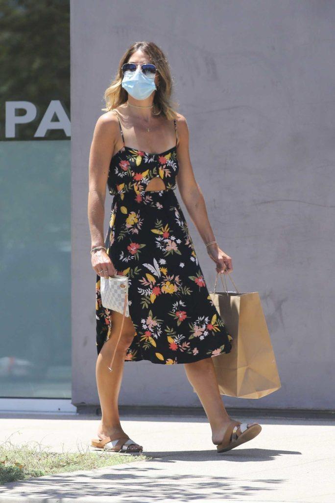 Jillian Michaels in a Floral Sundress