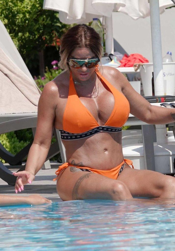 Katie Price in an Orange Bikini
