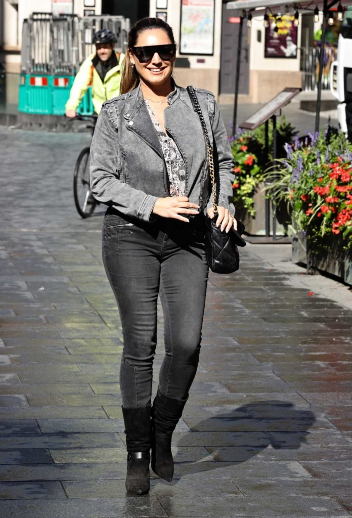 Kelly Brook in a Grey Jacket