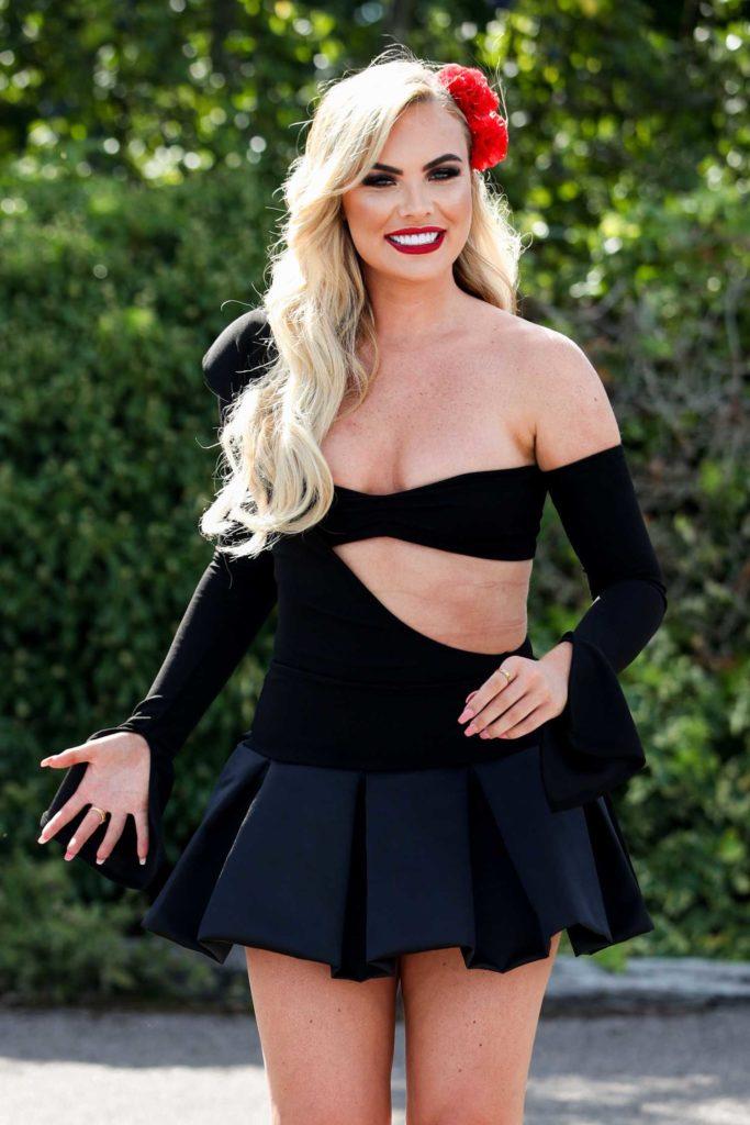 Kelsey Stratford in a Black Mini Dress
