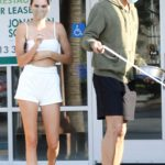 Kendall Jenner in a White Shorts Leaves a Pet Shop in Malibu