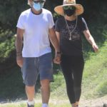 Lisa Rinna in a Black Leggings Out Hiking with Her Husband Harry Hamlin in Beverly Hills