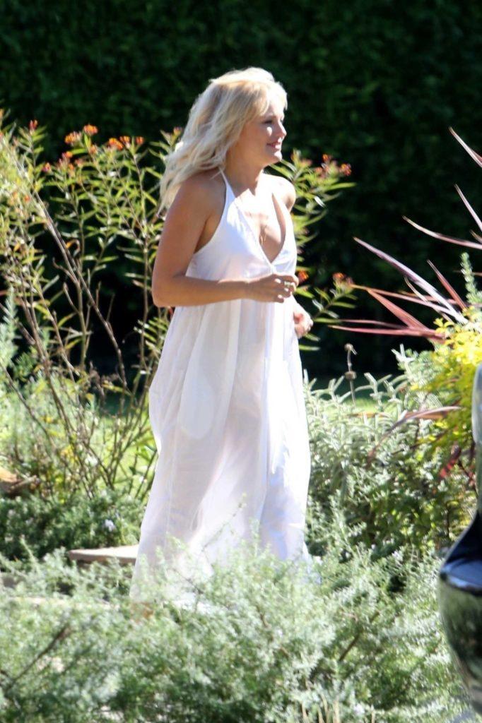 Malin Akerman in a White Summer Dress