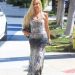 Marcela Iglesias in a Silver Animal Print Dress Was Seen Out in Los Angeles