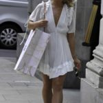 Molly Smith in a White Mini Dress Was Seen Out in Manchester