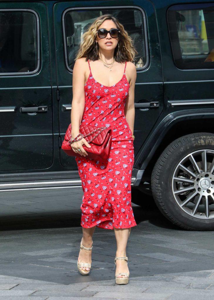 Myleene Klass in a Red Summer Dress