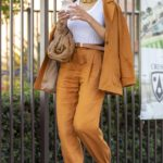 Olivia Culpo in a Tan Suit Was Seen Out in Los Angeles