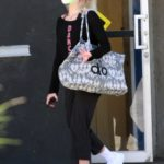 Peta Murgatroyd in a Protective Mask Leaves the Dance Studio in Los Angeles