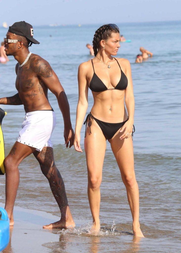 Rebecca Gormley in a Black Bikini