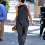 Selma Blair in a Grey Jumpsuit Was Seen Out in Los Angeles