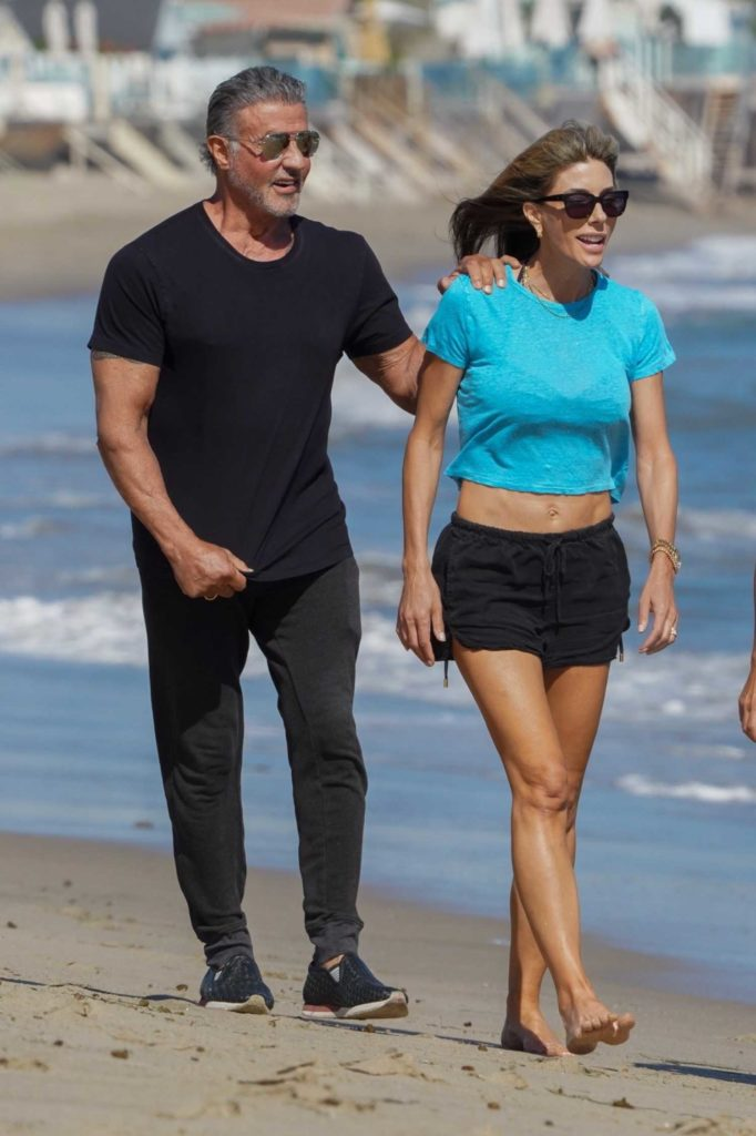 Sylvester Stallone in a Black Tee
