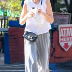 Whitney Port in a Gray Pants Heads Out for a Coffee in Los Angeles