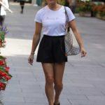 Zoe Hardman in a Black Shorts Arrives at the Heart Radio Studios in London