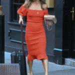 Zoe Hardman in a Red Dress Was Seen Out in Soho, London