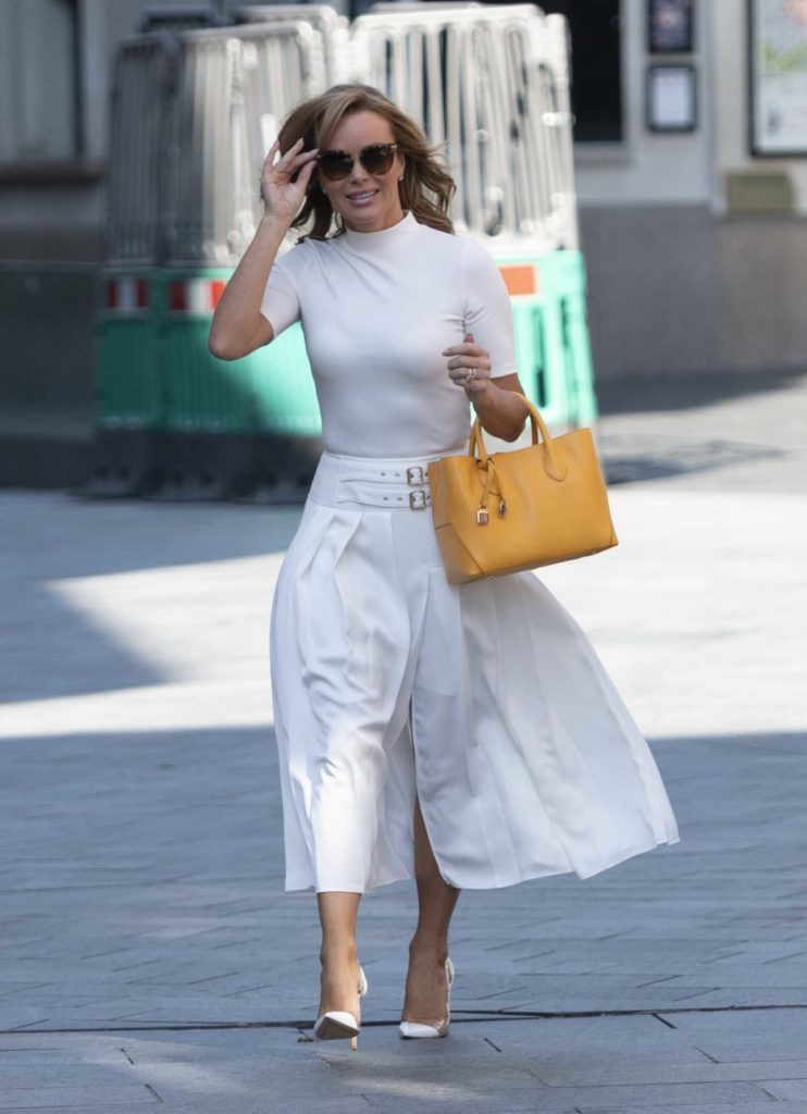 Amanda Holden in a White Outfit