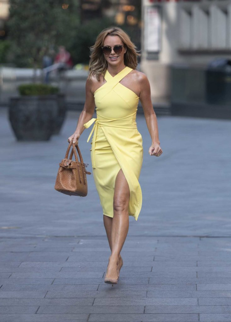 Amanda Holden in a Yellow Dress