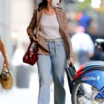 Anne Hathaway in a Protective Mask Leaves the Hair Salon in New York
