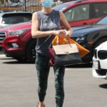 Anne Heche in a Grey Top Arrives at the Dance Studio in Los Angeles