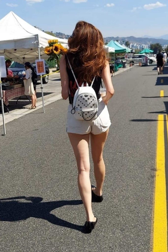 Blanca Blanco in a White Shorts