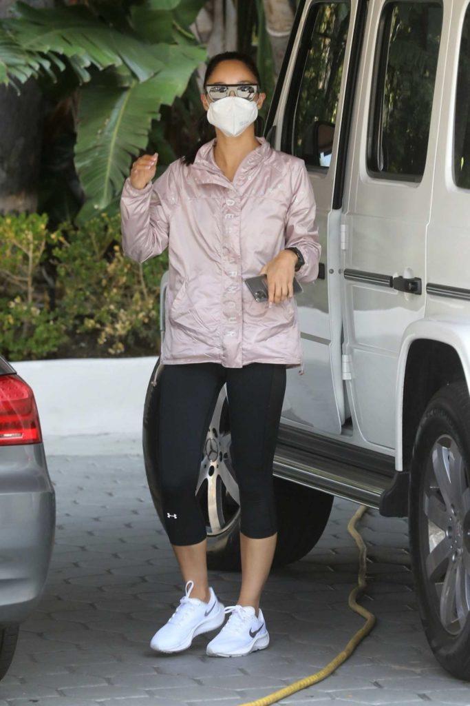 Cara Santana in a Protective Mask