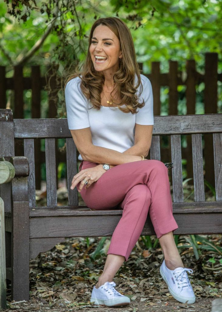 Catherine Duchess of Cambridge in a White Tee