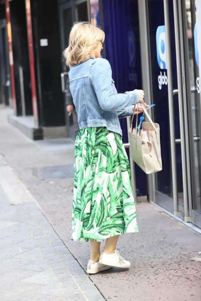 Charlotte Hawkins in a Green Floral Dress
