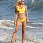 Dasha Inyutkina in a Yellow Bikini Does a Beach Photoshoot for 138 Water in Malibu