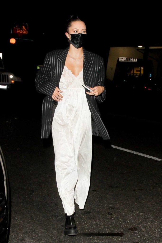 Delilah Hamlin in a Striped Blazer