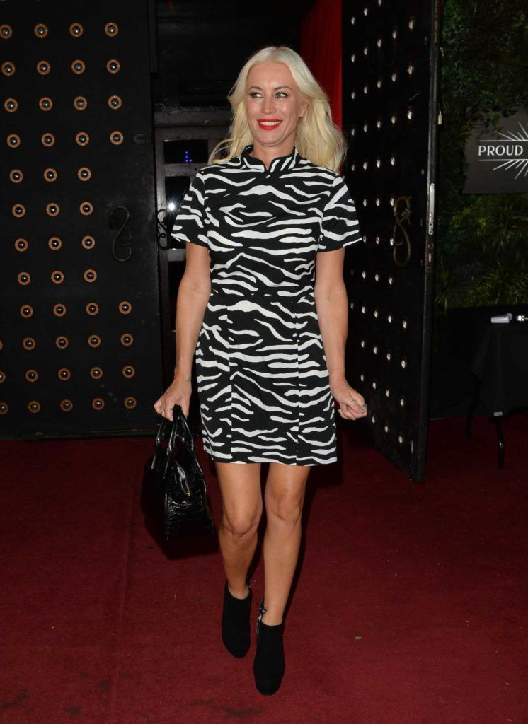 Denise Van Outen in a Black and White Dress
