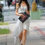 Famke Janssen in a Black Protective Mask  Was Seen Out in Soho in New York