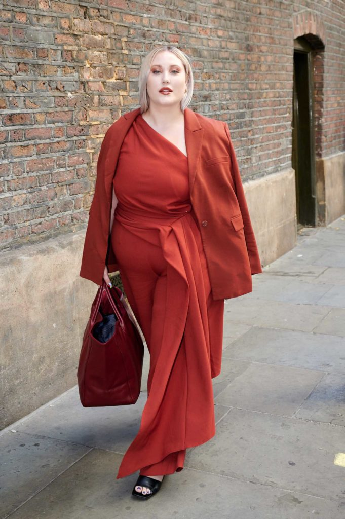 Hayley Hasselhoff in a Red Suit