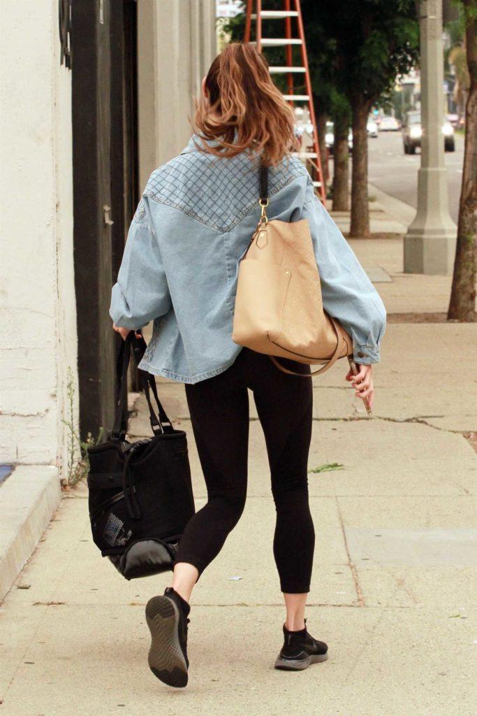 Jenna Johnson in a Grey Jacket