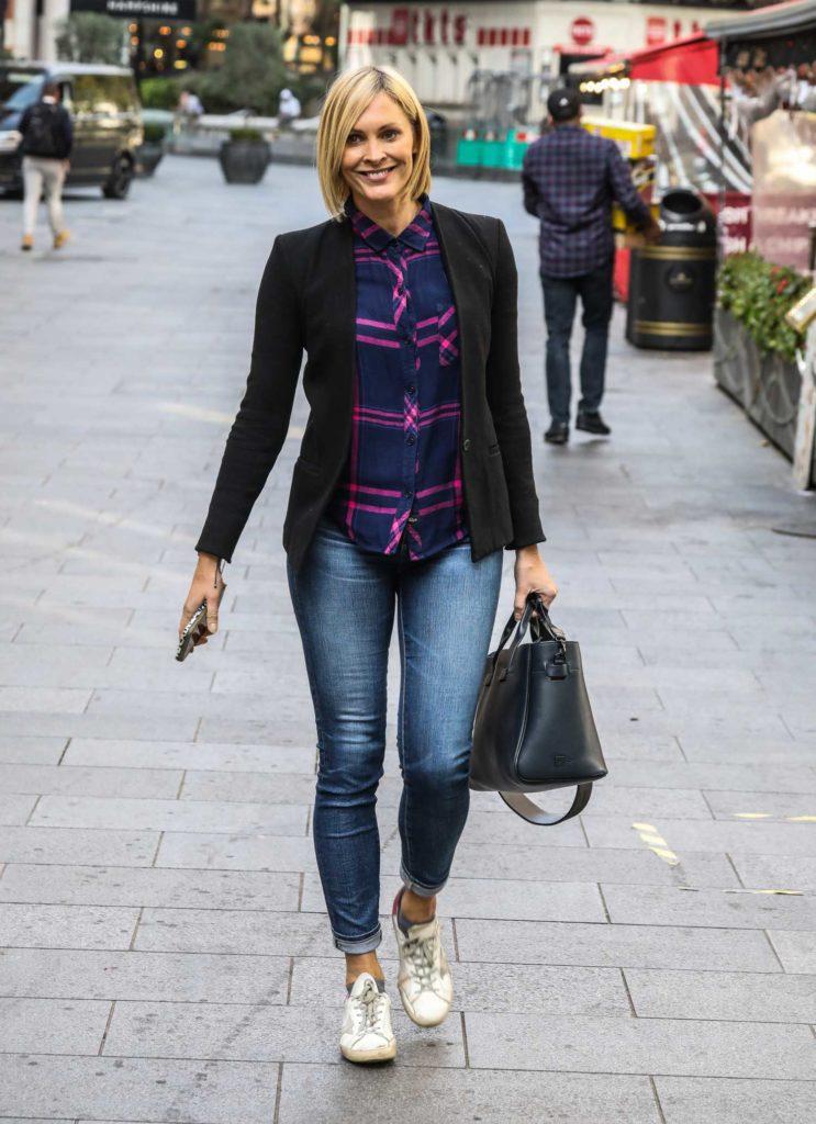 Jenni Falconer in a Black Blazer