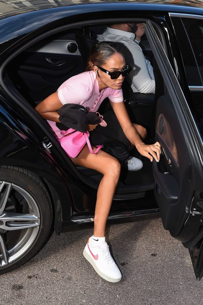 Joan Smalls in a Pink Outfit