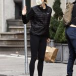 Karlie Kloss in a Black Jacket Arrives Home in New York
